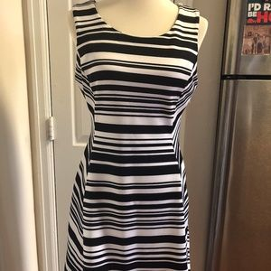 Worthington Dress Black & White Stretch Sz 10